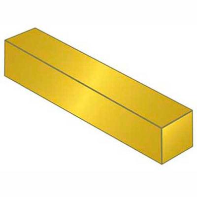 """Keystock - 5/8"""" x 5/8"""" x 1 Ft - 3600 Brass - Plain - Bilateral - ASTM B16"""