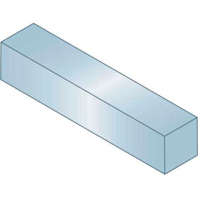 "Machine Key - 1/8"" x 1/8"" x 1-1/4"" - Steel - Zinc Clear - Undersize - ANSI B17.1 - Pkg Qty 50"