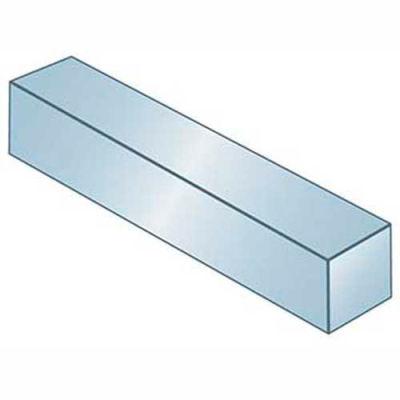 """Keystock - 3/8"""" x 1/2"""" x 1 Ft - Carbon Steel - Zinc Clear - Undersize - ANSI B17.1 - Pkg Qty 5"""