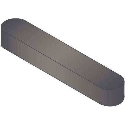 Machine Key - 10 mm x 8 mm x 100 mm - Form A - C45K - Plain - Undersize - DIN 6885 - Pkg Qty 10