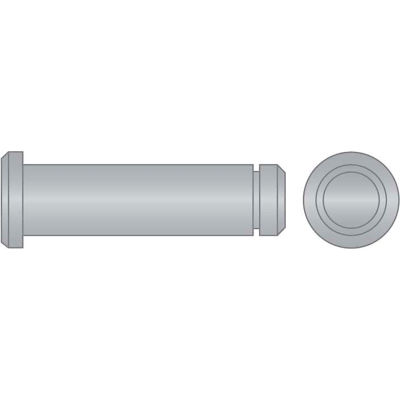 """3/16"""" x 2"""" Grooved Clevis Pin - 18-8 Stainless Steel  - Pkg Qty 10"""