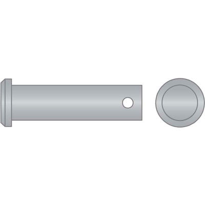 "1/2"" x 3"" Clevis Pin - 300 Series Stainless Steel - USA - Pkg Qty 2"