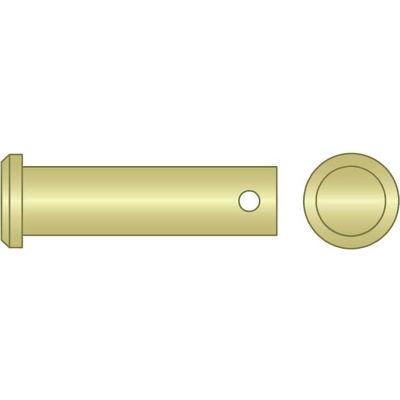 "3/8"" x 1-1/2"" Clevis Pin - Low Carbon Steel - Zinc Yellow - USA  - Pkg Qty 25"