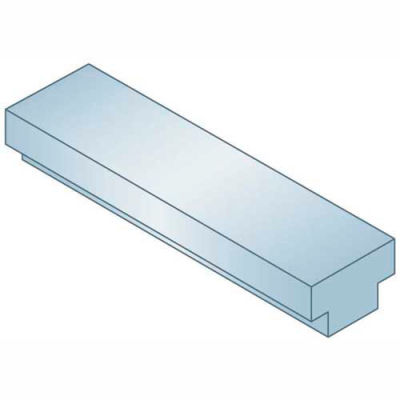 "Step Keystock - 3/16"" x 1/8"" x 1 Ft - Type 1 - Zinc Clear - Oversized - Overall Height: 3/32"" + 1/16"