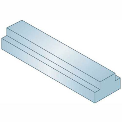 "Step Keystock - 1/2"" x 5/8"" x 1 Ft - Type 2 - Zinc Clear - Oversized - Overall Height: 1/4"" + 5/16"""