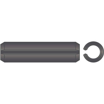 "3/8"" x 1-1/4"" Spring Pin - High Carbon Steel - Plain - ASME B18.8.2 - Made In USA - Pkg Qty 50"