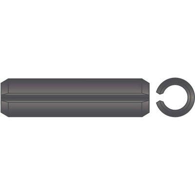 "3/8"" x 2"" Spring Pin - High Carbon Steel - Plain - ASME B18.8.2 - Made In USA - Pkg Qty 50"