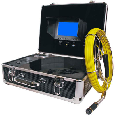 FORBEST FB-PIC3188D-100 Portable Color Sewer/Drain Camera, 100' Cable W/ Aluminum Case