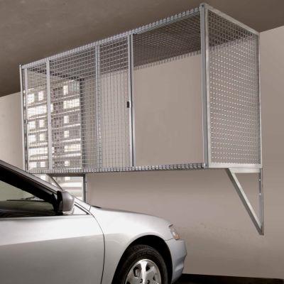 "Folding Guard Wall Mount Garage Storage Ventilated Locker, 96""Wx36""Dx36""H, Gray, Unassembled"