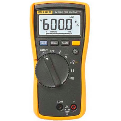 Fluke 114 Electrical TRMS Multimeter, CAT III 600 V safety rated