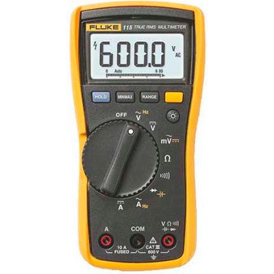 Fluke 115 True RMS Digital Multimeter, CAT III 600 V safety rated