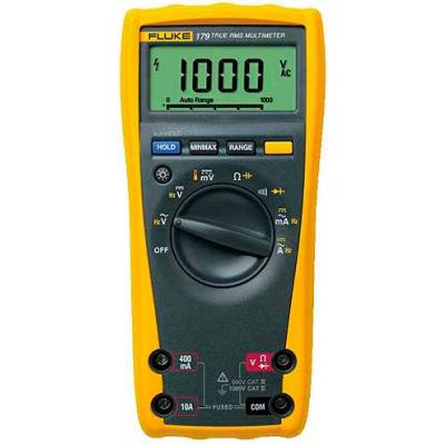 Fluke 179 ESFP Digital Multimeter, 1000V, TRMS, Temperature, IEC 1010 CAT IV 600V, CAT III 1000V