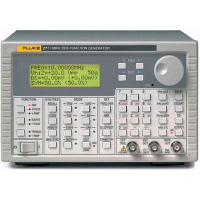Fluke 271-U 115V 10 MHz DDS Function Generator, Resolution 7 digits or 0.1 mHz