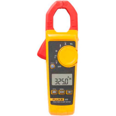 Fluke 325 40/400A AC/DC, 600V AC/DC TRMS Clamp Meter W/Frequency, Temp, & Capacitance Measurements