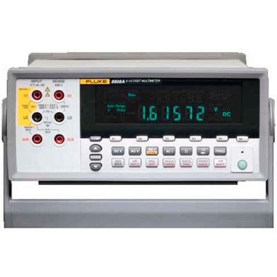 Fluke 8808A 120V 5.5-Digit Digital Bench Multimeter, 0.015% Accuracy; Volts, Ohms, & Amps