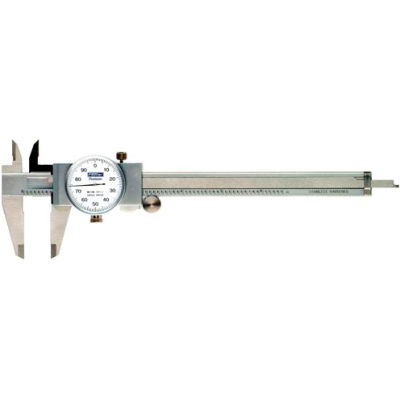 """Fowler 52-008-704 0-4"""" Shockproof Dial Caliper W/White Dial"""