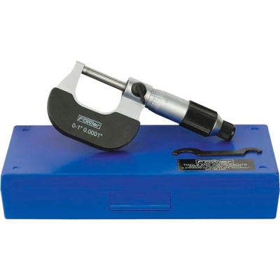 """Fowler 52-229-201 0-1"""" Mechanical Outside Micrometer W/ Ratchet Friction Thimble"""