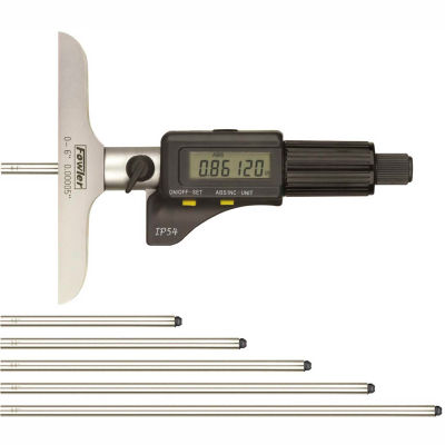 "Fowler 54-225-456 IP54 0-6"" / 150MM Electronic Depth Micrometer"