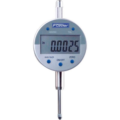 "Fowler 54-520-250 Indi-X Blue Series 0-1""/ 0-25MM Electronic Indicator W/ Lug Back"
