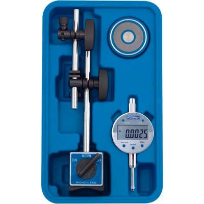 Fowler 54-585-075-0 Fine Adjust Mag Base Set with Indi-X Blue Electronic Indicator Set