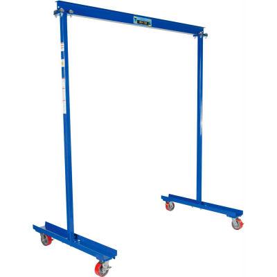 "Fixed Height Work Area Portable Gantry Crane, 6'7-3/4""W x 7-13/16""H,1000 Lb. Cap."
