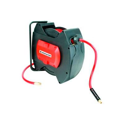 "Florida Pneumatic 6800 3/8""x50' 300 PSI Spring Retractable Low Pressure Composite Hose Reel"