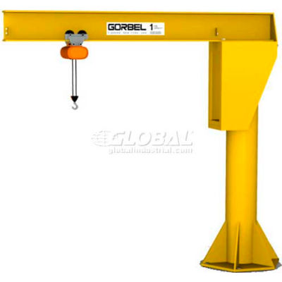 Gorbel® HD Free Standing Jib Crane, 10' Span & 17' Height Under Boom, 3000 Lb Capacity