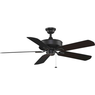 Fanimation TF910BL Edgewood Wet Location Ceiling Fan, 5461 CFM, 183 RPM, Black