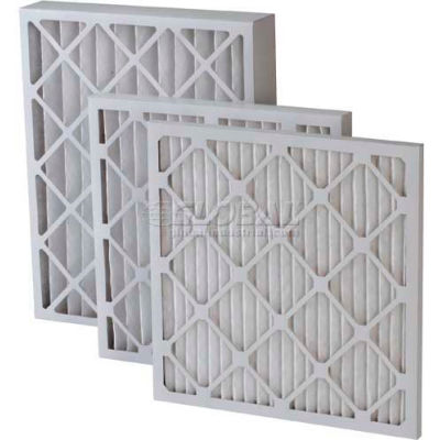 "Filtration Manufacturing 0208-20201 Pleated Filter, Merv 8, Standard Capacity, 20""W x 20""H x 1""D - Pkg Qty 12"