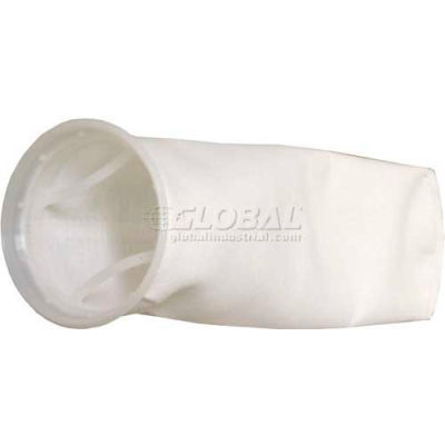 "Liquid Bag Filter, Nylon Mesh, 4-1/8""Dia. X 8""L, 150 Micron, Plastic Sure Seal Ring - Pkg Qty 50"