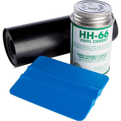 """Powerblanket® Repair Kit With Squeegee, Vinyl Black Cement, 12'Lx3""""W Roll"""