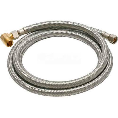 Fluidmaster B6W72 Dishwasher Water Supply Connector 3/8 In. Compression X 72 In - Braided SS