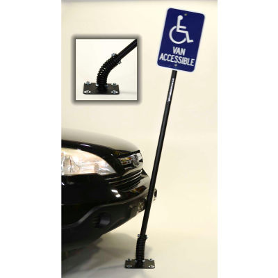 """Standard FlexPost® Sign Post, For Concrete Surface, 78""""H"""