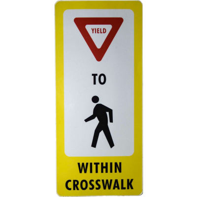 FlexPost® Pedestrian Crossing Decal