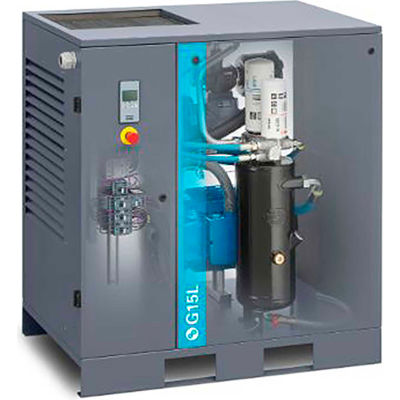 Atlas Copco G15L-125 FF, 20HP, Oil-Injected Rotary Screw, Floor Mount, 125PSI, 3PH 208/230/460V