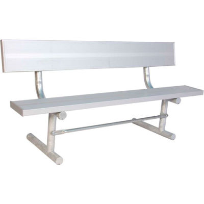 6' Aluminum Park Bench with Back, Portable