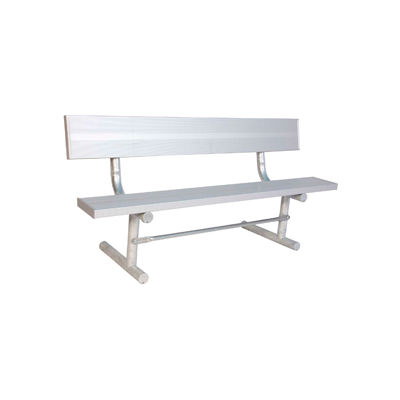 8' Aluminum Park Bench with Back, Portable