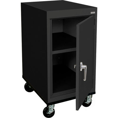 Sandusky Mobile Work Height Storage Cabinet TA11182430 Single Door - 18x24x36, Black
