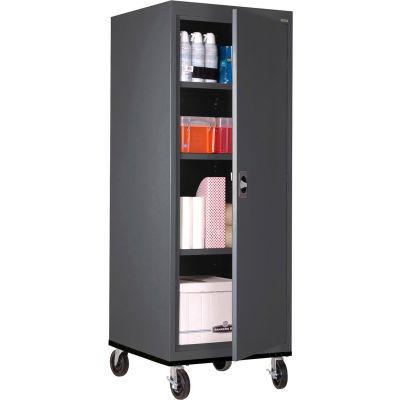 Sandusky Mobile Storage Cabinet TA3R242460- 24x24x66, Charcoal