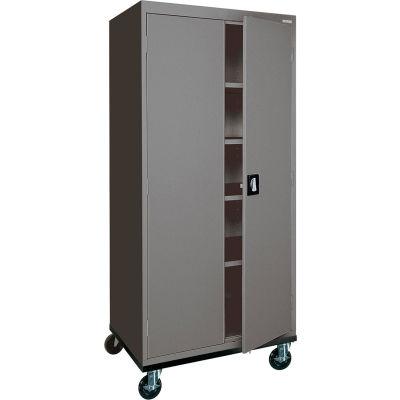 Sandusky Mobile Storage Cabinet TA4R302466 - 30x24x72, Charcoal