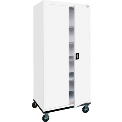 "Sandusky TA4R362472-22- Mobile Storage Cabinet- 36""W x 24""D x 72""H, White"