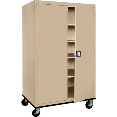 Sandusky Mobile Storage Cabinet TA4R462472 - 46x24x78, Sand