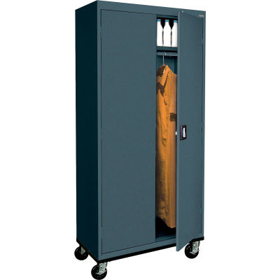 Sandusky Mobile Wardrobe Cabinet TAWR362472 - 36x24x78, Charcoal
