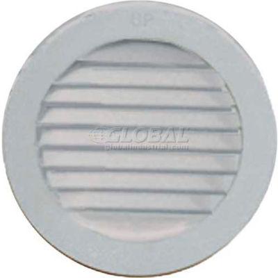 "Master Flow® Circular Wall, Louver Resin, 4"" Dia, White - Pkg Qty 12"