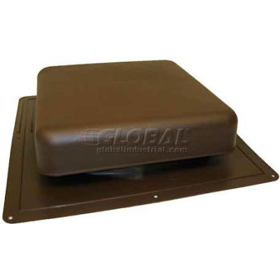 """Master Flow® Static Roof Louver Resin, 60"""" Square, Nfa, Brown - Pkg Qty 10"""