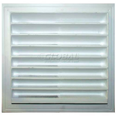 """Master Flow® Thermoformed Plastic Wall Vent, White, 12""""W X 18""""L, White - Pkg Qty 12"""