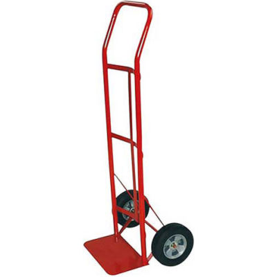 Milwaukee Hand Truck 47109 - Flow Back Handle - Solid Rubber Wheels - 600 Lb. Capacity - Red