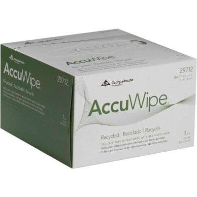 GP AccuWipe White 1-Ply Delicate Task Wipers, 280 Sheets/Box, 60 Boxes/Case - 29712