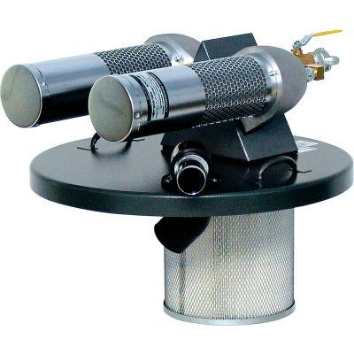 """Guardair 55 Gallon Dual B Pneumatic Vacuum Generating Head w/ 2"""" Inlet - N552B"""