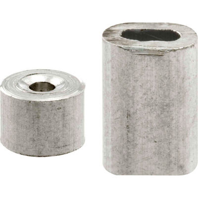 Prime-Line GD 12149 Ferrules and Stops, 1/16-Inch, Aluminum,(Pack of 2)